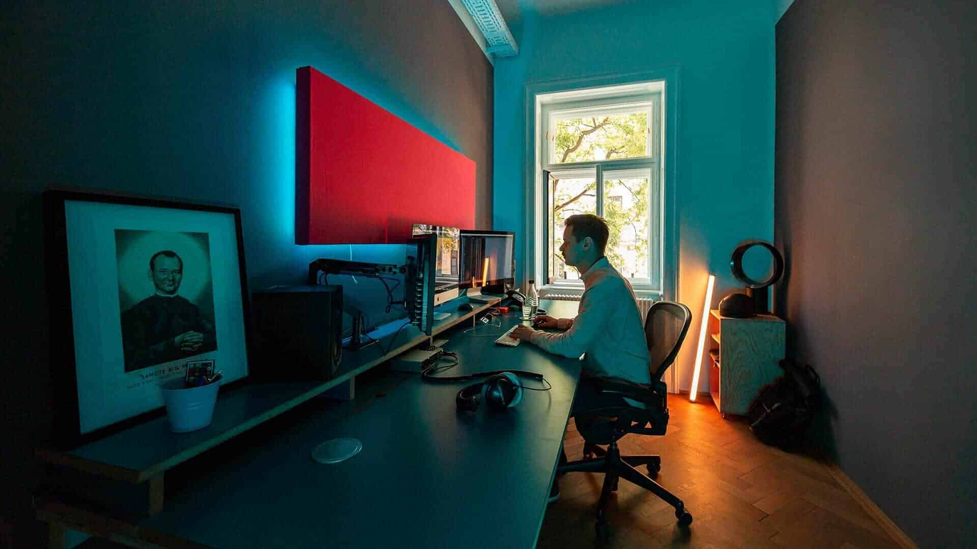 Film editing in post production